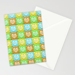 Colorful Happy Easter Theme Pattern Stationery Cards