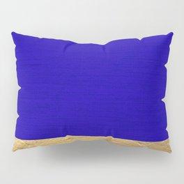 Color Blocked Gold & Cerulean Pillow Sham