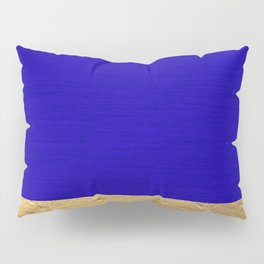 Color Blocked Gold & Cerulean Pillow Sham