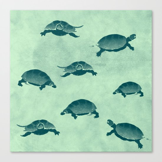 Down with the turtles Canvas Print