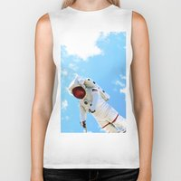 spaceman Biker Tanks featuring Spaceman by Richwill Company