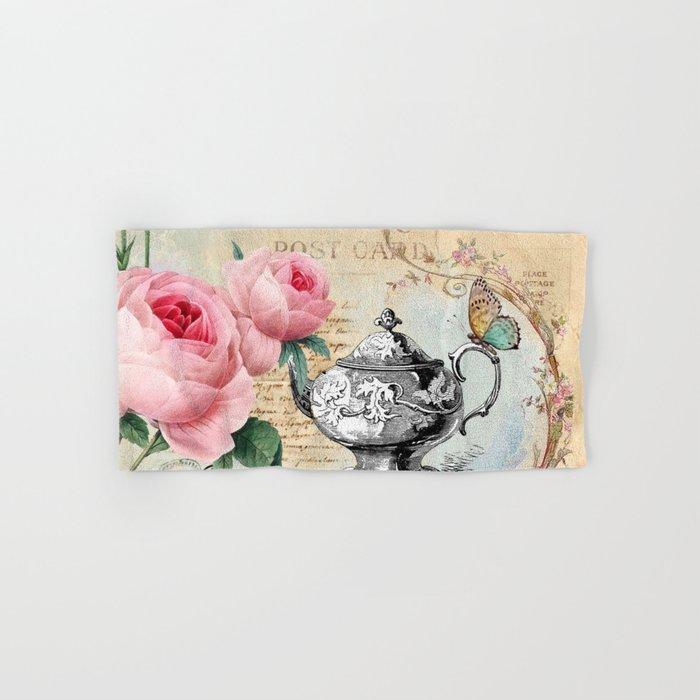 Vintage Flowers #17 Hand & Bath Towel