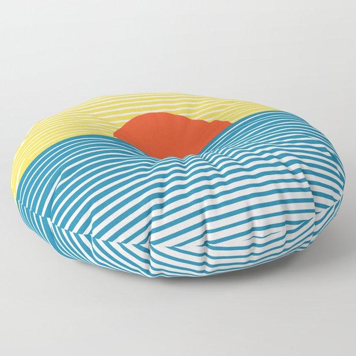 Abstract landscape XIX Floor Pillow