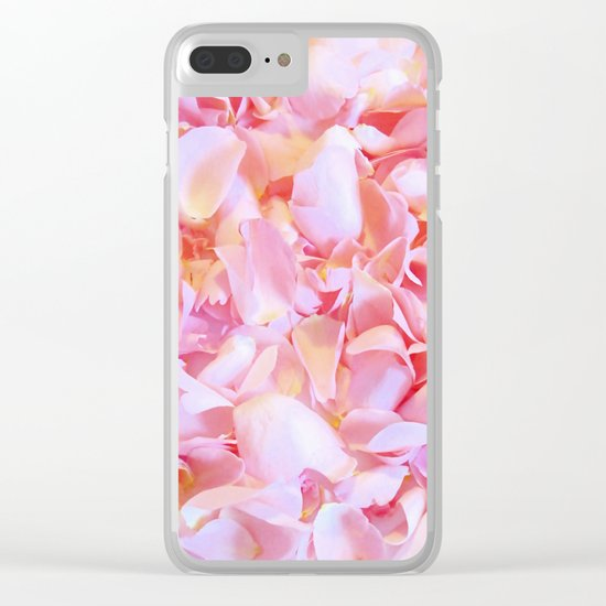 Pink flower petals - Beautiful floral rose roses background Clear iPhone Case