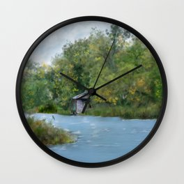 Secluded in Cape Cod Wall Clock