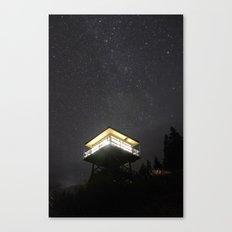Fire Lookout at Night Canvas Print