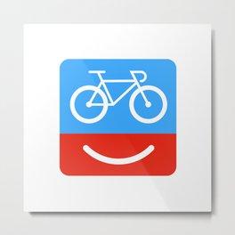 bicyclove Metal Print