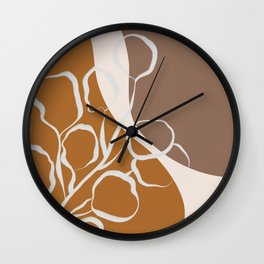 Organic Shapes & Plants Wall Clock