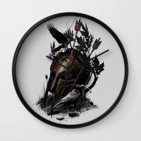 fall Wall Clocks featuring Legends Fall by nicebleed