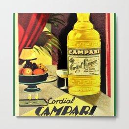 Vintage 1930 Cordial Campari Bitters Aperitif Advertisement Poster Metal Print
