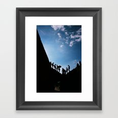 Shadows from the past Framed Art Print