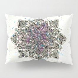 Zen Watercolor Mandala Full Pillow Sham
