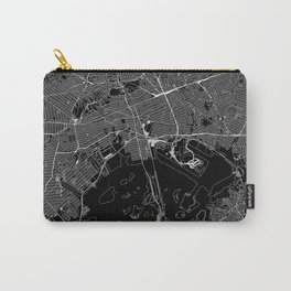 Queens Black Map Carry-All Pouch