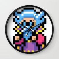 final fantasy Wall Clocks featuring Final Fantasy II - Tellah by Nerd Stuff