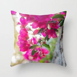 Color Bugambilia Throw Pillow
