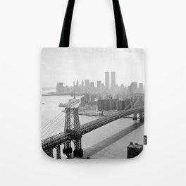 Photograph of NYC and The Williamsburg Bridge Tote Bag