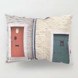 Doors of Petit-Champlain, Quebec City Pillow Sham