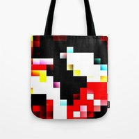 pixel Tote Bags featuring pixel by shopcicelysiller