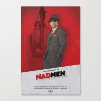 mad men Canvas Prints featuring Mad Men by Benjamin Surkus