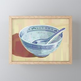 The Bowl You Grew Up With Framed Mini Art Print