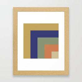 Striped Corners 1 Framed Art Print