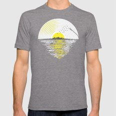 Morning Sounds MEDIUM Tri-Grey Mens Fitted Tee