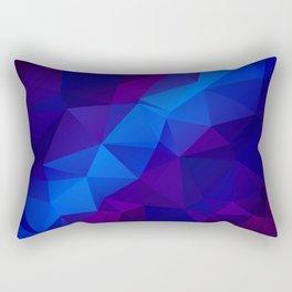 Abstract digital art polygon triangles Rectangular Pillow