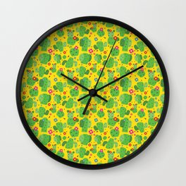 Cactus Me Outside (Yellow) Wall Clock