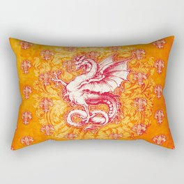 Noble House GINGER FIRE / Grungy heraldry design Rectangular Pillow