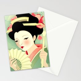 Geisha: Rose Stationery Cards