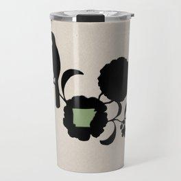 Arkansas - State Papercut Print Travel Mug