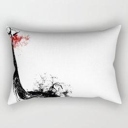 Red Dress Rectangular Pillow