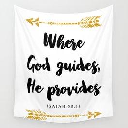 Isaiah 58:11 Bible Verse Wall Tapestry