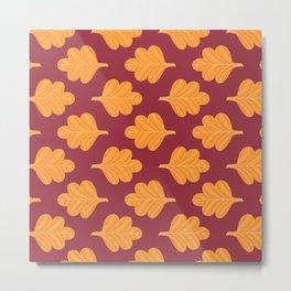 Modern Fall Floral Pattern VIII Metal Print