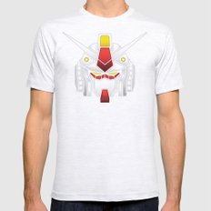 Mobile Suit in Disguise SMALL Mens Fitted Tee Ash Grey