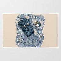 hallion Area & Throw Rugs featuring Falling by Karen Hallion Illustrations