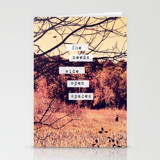Wide Open Spaces II Stationery Cards