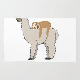 Don't Worry I'm Coming Sleepy Sloth & Llama Rug