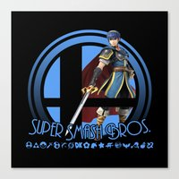 super smash bros Canvas Prints featuring Marth - Super Smash Bros. by Donkey Inferno