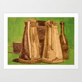 Tribute to Giorgio Morandi Art Print