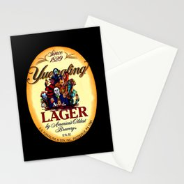 horror movie characters yuengling lager by america's oldest brewery halloween Stationery Cards