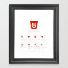 HTML5 Brand Launch Framed Art Print