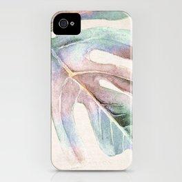 Monstera 3 iPhone Case