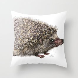 African Pygmy Hedgehog Throw Pillow