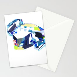 Glass Geometry Multi-Colour Two Stationery Cards