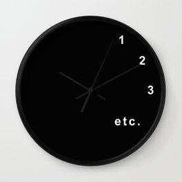 Procrastination (black version) Wall Clock