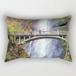 Multnomah Falls II Rectangular Pillow