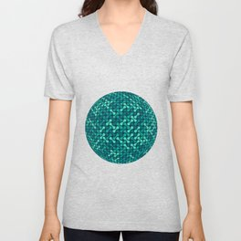 Metaballs Pattern Sphere (Teal) Unisex V-Neck