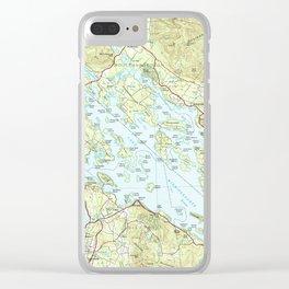 Lake Winnipesaukee Map (1986) Clear iPhone Case