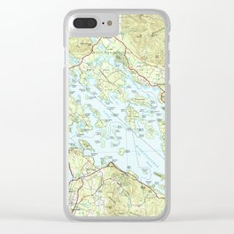 Lake Winnipesaukee Map (1986) Clear iPhone Case